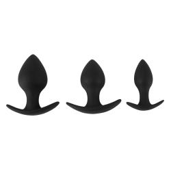 Komplet Analnih Nastavkov Black Velvets